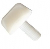 thumb screws with collar - M12x20 - PA6.6 colour nature
