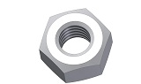 hex nuts DIN555/934 M2.5 - PA 6.6. colour nature