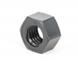 hex nuts - colour black M3 PA DIN 934
