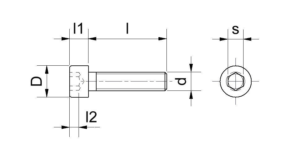 50 Zylinderkopfschrauben Innensechskant DIN 912 Polyamid PA 6.6 natur M4X8