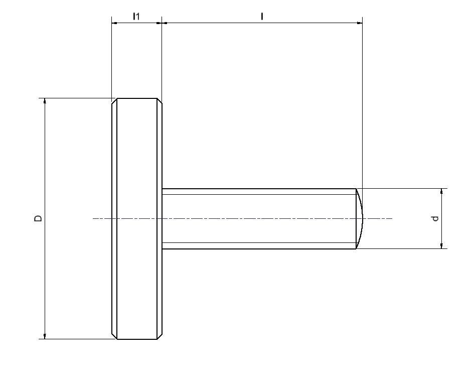 25 Stück Kunststoffschrauben Senkkopf DIN 965 Polyamid PA 6.6 natur M5X30