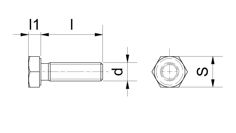 50 Stück Kunststoffschrauben Senkkopf DIN 965 Polyamid PA 6.6 natur M4X20