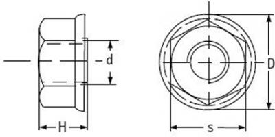 sechskantmutter mit flansch kunststoffschrauben pvdf. Black Bedroom Furniture Sets. Home Design Ideas