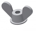 wing nuts D=24 M6 h=24 H=35 Nylon. PA6.6 colour nature Typ 3