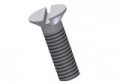 countersunk screw DIN 963 > ISO 2009 - M4x40 PVDF