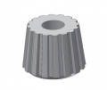 cone nut PA 6.6 colour nature M6