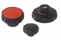 Star Knobs with mounted nut D55 mm. M6 mm black