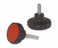 Star Knobs with mounted screw D32.5 mm. M6x14 mm black