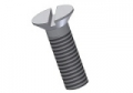 countersunk screws with slot DIN 963 - M3x6 PA6.6 colour nature