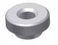 knurled nut DIN 467 M4 D=16 H=6 Typ 2 Nylon colour nature / Polyamid colour nature