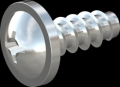 screw for plastic: Screw STS-plus KN6031 2x5 - H1 steel, hardened 10.9 zinc-plated 5-7 ?m, baked, blue / transparent passivated