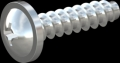 screw for plastic: Screw STS-plus KN6031 2x8 - H1 steel, hardened 10.9 zinc-plated 5-7 ?m, baked, blue / transparent passivated