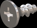 screw for plastic: Screw STS-plus KN6033 2x4.5 - H1 stainless-steel, A2 - 1.4567 Bright-pickled and passivated
