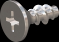 screw for plastic: Screw STS-plus KN6033 2x5 - H1 stainless-steel, A2 - 1.4567 Bright-pickled and passivated