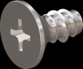 screw for plastic: Screw STS-plus KN6033 6x12 - H3 stainless-steel, A2 - 1.4567 Bright-pickled and passivated