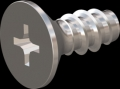 screw for plastic: Screw STS-plus KN6033 6x14 - H3 stainless-steel, A2 - 1.4567 Bright-pickled and passivated