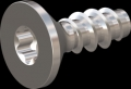 screw for plastic: Screw STS-plus KN6041 1.6x4.5 - T5 stainless-steel, A2 - 1.4567 Bright-pickled and passivated